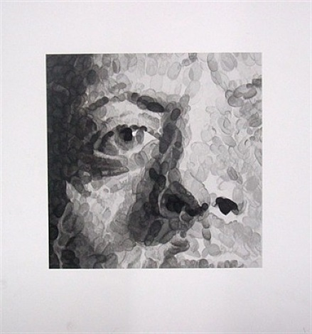 phil (detail) by chuck close