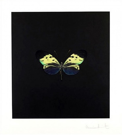 the souls on jacob's ladder take their flight (small green) by damien hirst