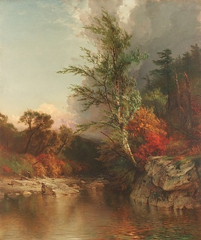 a pool in the au sable by arthur parton