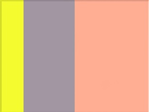 yellow, purple, pink by ron agam