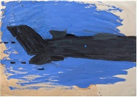 fighter plane by rose wylie