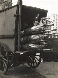 carousel horses, paris by andré kertész