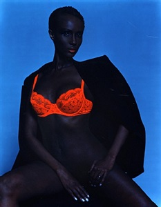 iman, new york by michel comte
