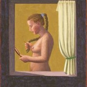 woman with a mirror by hermann albert