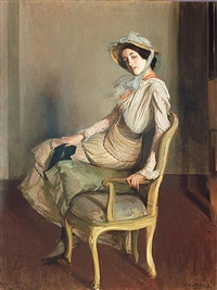 portrait of desirée manfred (the summer girl) by jacques emile blanche