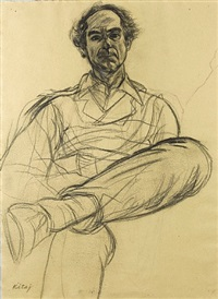 portrait of philip roth by ronald brooks kitaj