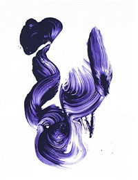 three aces - purple by james nares