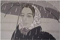 grey umbrella by alex katz