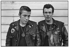 sparky and cowboy (gary rogues), schererville, indiana by danny lyon