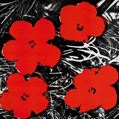 8 inch flowers painting by andy warhol