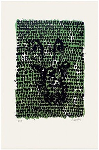 grünes tuch (green cloth) by georg baselitz