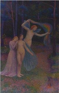 femmes dans le foret by hippolyte petitjean