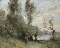 country scene by paul désiré trouillebert