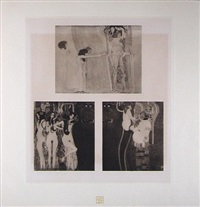 <u>fragments of the beethoven frieze i</u> from das werk by gustav klimt