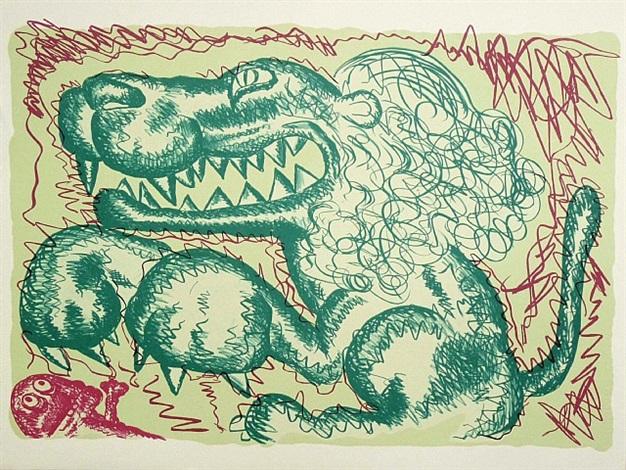 no. 1 medium (green) by bjarne melgaard