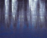 frozen lake reflections, colorado by christopher burkett