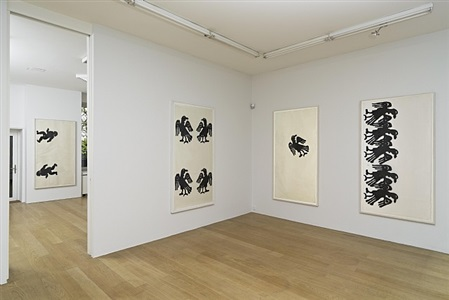 exhibition view by christopher wool