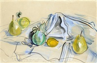 still life with pears and lemons by raoul dufy