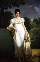 portrait of félicité-louise-julie-constance de durfort, maréchale de beurnonville by merry-joseph blondel