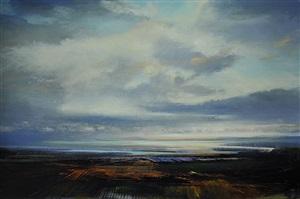 skies with deep horizon by david allen dunlop
