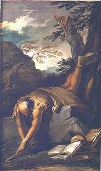 saint paul the hermit by salvator rosa