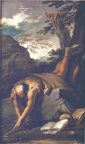 saint paul the hermit by salvator rosa