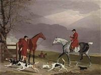 hunting scene by benjamin marshall