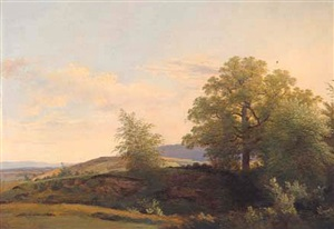 a view of the village of gy, near geneva by wolfgang adam töpffer