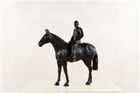 neutra on horseback by xavier veilhan