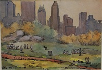 game playing in central park by mabel scott