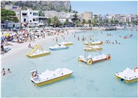 mondello paddle boats by massimo vitali