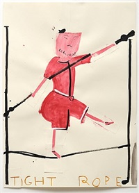 tightrope by rose wylie