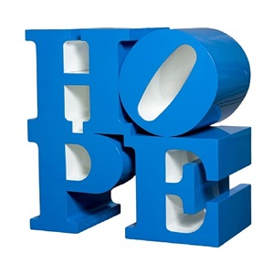 hope, blue/white by robert indiana