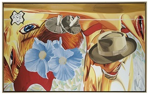 blue flowers by david salle