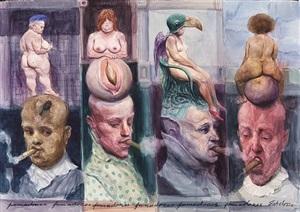 los fumadores (the smokers) by roberto fabelo