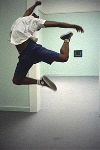 desmond cadogan dancing in chicago museum by rainer fetting