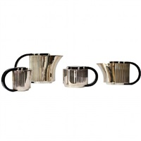 elegant art deco tea & coffee service by jean emile puiforcat