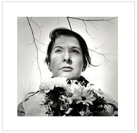 portrait with flowers by marina abramovic