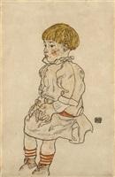 portrait of anton peschka jr. by egon schiele