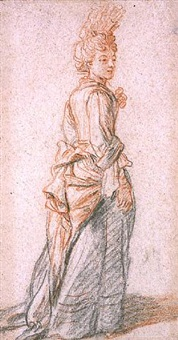 study of a woman by charles de la fosse