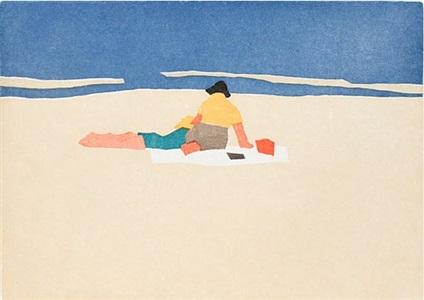 figures on beach by alex katz