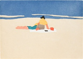 figures on beach by alex katz