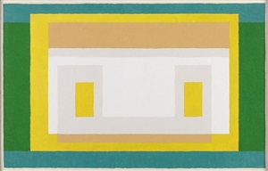 "variant: ""with first green"" by josef albers"