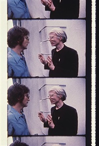 john lennon and andy warhol at klein party, june 12, 1971 by jonas mekas