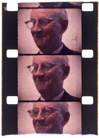 douglas sirk at his retrospective at moma, nyc, c. 1980 by jonas mekas