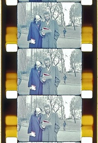selena ginsberg and peter orlovsky, central park, nyc, c. 1990 by jonas mekas