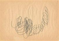 informelle kritzelzeichnung / informal drawing by hermann nitsch