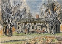 long house, north of wyoming village by charles ephraim burchfield