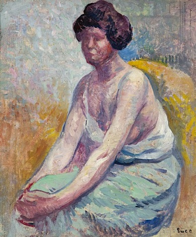 madame luce, c. 1900, portrait d'ambroisine by maximilien luce