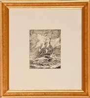 gallion in a storm by edward hopper
